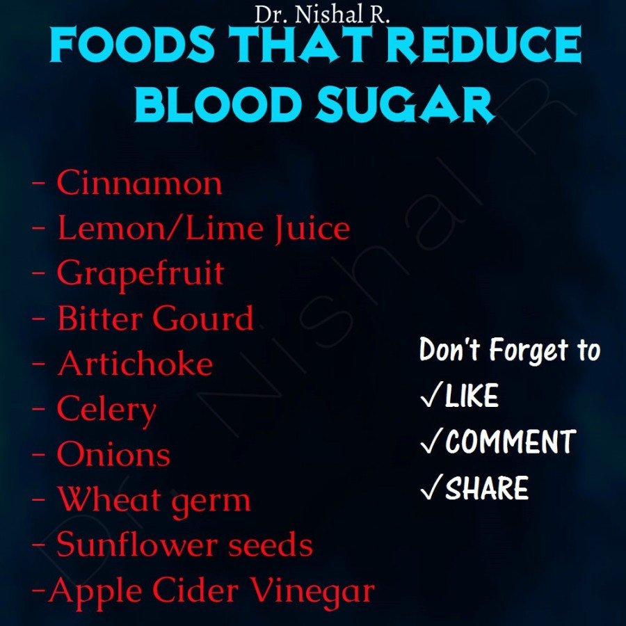 Foods that reduce blood sugar.