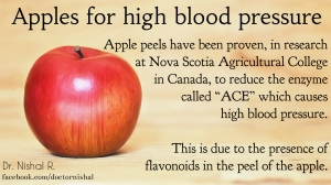 high blood pressure apples